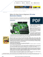 Where Do Open Source Engineers Fit in the Electronics Industry