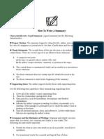 How Write a Summary