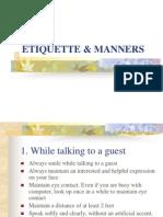 Etiquette Manners