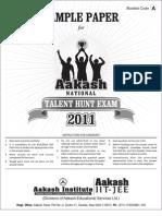ANTHE Sample Paper 2011