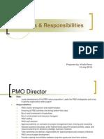 PMO Roles Responsibilities