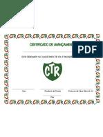 Certificado de avançamento CTR