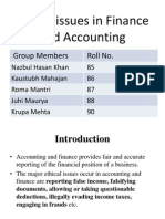 Ethical Issues in finance