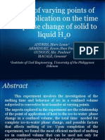 Effects of Varying Points of Heat Application to Ice at Confined Volume