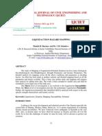 Liquefaction Hazard Mapping