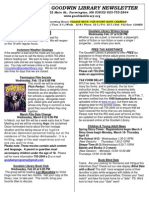 February 2013 Goodwin Library Newsletter