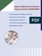 Brochure Quidway S3000(S3026-3026E)