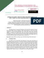 A Design of Parity Check Matrix for Short Irregular Ldpc Codes via Magic