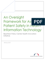An Oversight Framework for Assuring Patient Safety in Health Information Technology
