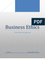 Institutionalization of Ethics in business