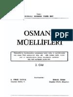 Bursalı Mehmed Tahir - Osmanlı Müellifleri II