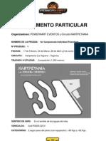 Reglamento Powerkart Kartpetania Campeonato 2013