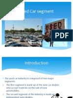 Marketing..Used Car Segment