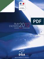 Bilan Activites Dga 2012