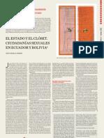 Cuadernos del Pensamiento Crítico Latinoamericano Nº51  El Estado y el clóset. Ciudadanías sexuales en Ecuador y Bolivia