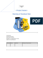 1.7 Warnings of Residual Risk
