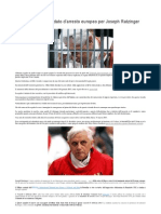 Spiccato un mandato d'arresto europeo per Joseph Ratzinger