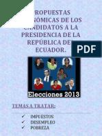 Propuestas de Candidatos 2013