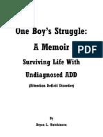 One Boy's Struggle BOOK