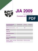 Inscripcion JIA2009