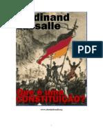 O que é uma Constituicao - Ferdinand Lassale