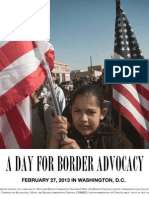 Poster for Border Advocacy Day