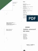Barthes Roland Todorov Tzvetan Et Al Analisis Estructural Del Relato 1966
