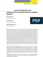 Language and Polysemy
