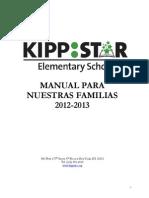 KIPP STAR Elementary Manual Para Nuestra Familias