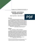 Colombia Terrorismo o Insurgencia