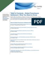 KL GATES Global Foreclosure Settlement 5.7 3-2012