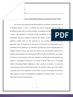 La Formacion de Una Nueva Critica Literaria Peruana