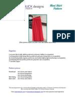 Lorenna Buck's  Maxi Skirt Pattern FULL