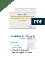 Aula 16 - Metabolismo Do Glicogenio e via Das Pentoses de Fosfato