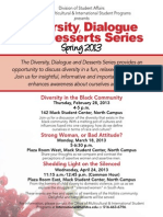 Diversity, Dialogue and Desserts Series