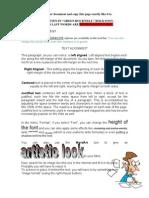 Word Processor Practice