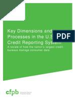 CFPB - 2012 Credit Bureaus Reporting System