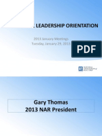 2013 Committee Leadership Orientation Powerpoint