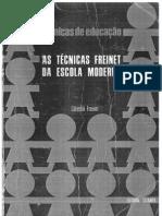 As Técnicas Freinet da Escola Moderna - Célestin Freinet em portugues (scanneado)
