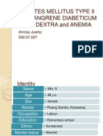 Case Dm Type II + Gangrene Diabeticum +Anemia