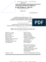 13-02-12 Apple v. Samsung Permanent Injunction Appeal Opening Brief