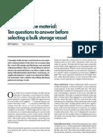 Selecting a Bulk Storage Vessel