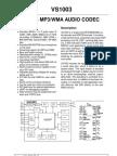 VS1003B Datasheet