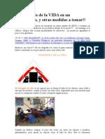 El Triangulo de La VIDA en Un Terremoto