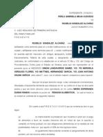 Contestacion Alimentos, Rogelio Gonzalz Alcaraz Imprimir