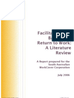 Foreman, Barriers and Facilitators to Return to Work
