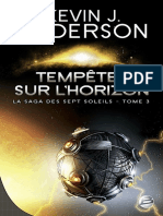 La saga des sept soleils T3 Tempêtes sur l'horizon - Anderson, Kevin J