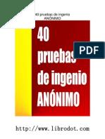 40 Pruebas de Ingenio