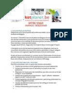 Offre Stage Kotplanet Graphiste Webdesigner 032013