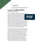 Legal Latin